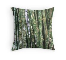 Bamboo with graffiti, Botannical Gardens Adelaide Throw Pillow