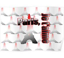Je t'aime Paris, Paris Eiffel tower Poster