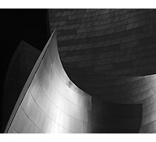 Disney Hall Abstract Black and White Photographic Print