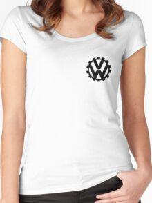 `VW logo Women's Fitted Scoop T-Shirt
