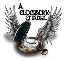 A Clockwork Citadel - LOGO (white) by Simone Green