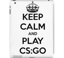 Keep calm and play CS:GO shirt iPad Case/Skin