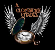 A Clockwork Citadel - LOGO (black) by Simone Green