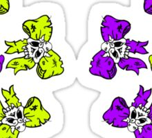Colorful skull-bows Sticker