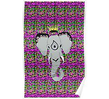 Elephant Wearing A Crown Poster