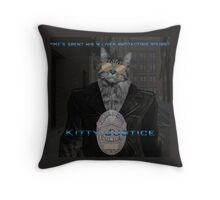 Kitty Justice Throw Pillow