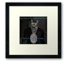 Kitty Justice Framed Print