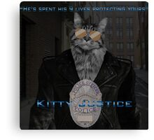 Kitty Justice Canvas Print