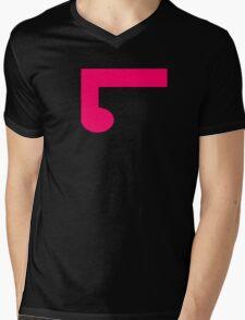 ElementLad - Logo in Pink Mens V-Neck T-Shirt