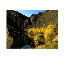 Golden Autumn/Fall reflections Art Print