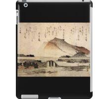 'Mountain Landscape with a Bridge' by Katsushika Hokusai (Reproduction) iPad Case/Skin