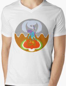 Gold/Silver/Crystal Mens V-Neck T-Shirt