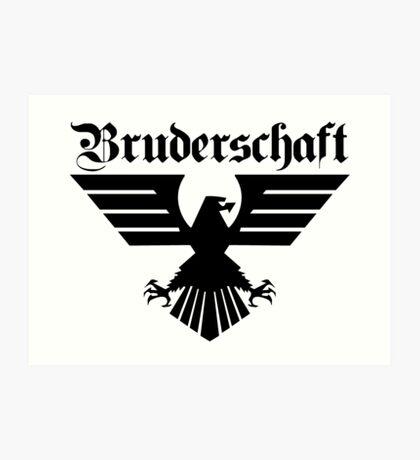 Brotherhood Eagle (Bruderschaft Bundesadler) - Black/Schwartz Art Print