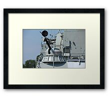 rapid fire cannon Framed Print