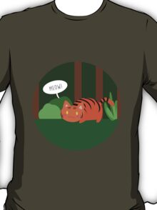Lil' Tiger meowing T-Shirt