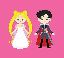 Princess Serenity and Prince Endymion by gabdoesdesign