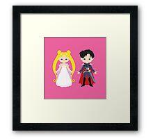 Princess Serenity and Prince Endymion Framed Print
