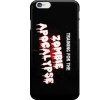 Zombie Training - Black iPhone Case/Skin