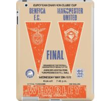 Manchester United vs Benfica - Retro Match Programme iPad Case/Skin