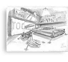 Lincoln et BMW HoverRacer Canvas Print