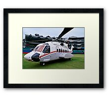 Sikorsky S-92 … Parked @ The Wanderers Cricket Stadium Framed Print