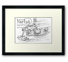Norton Dominator Speedracer Framed Print