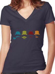 Moneyrunner T-Shirt 4 Women's Fitted V-Neck T-Shirt
