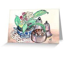Tea Time at Kew Gardens Greeting Card