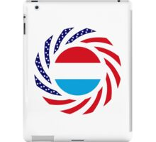 Luxembourg American Multinational Patriot Flag Series iPad Case/Skin