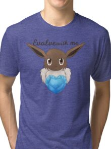 Eeveelutionary Hearts - Purity Tri-blend T-Shirt