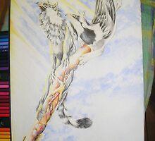 Mudlark Gryphons in Paperbark Tree by Lyrebird