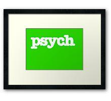 Psych Logo Framed Print