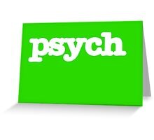 Psych Logo Greeting Card