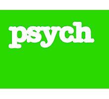 Psych Logo Photographic Print