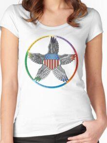 Patriotic pentacle Women's Fitted Scoop T-Shirt