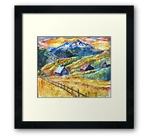 Colorful Colorado High Framed Print