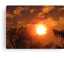 A Bright Shining Sun Canvas Print