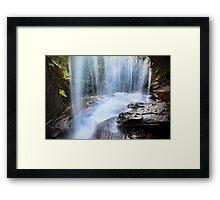 Behind the Falls Framed Print