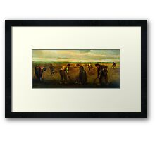 'Farmers' by Vincent Van Gogh (Reproduction) Framed Print