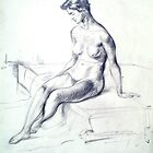 Doncaster College Art - Nude sketch by Doncaster College