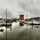 Hull Marina in the Rain by Sarah Couzens