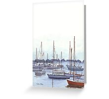 New England Marina Greeting Card