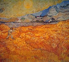 'Reaper' by Vincent Van Gogh (Reproduction) by Roz Abellera Art Gallery