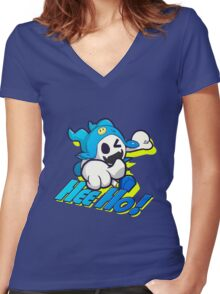 Jack Frost - Hee Ho Women's Fitted V-Neck T-Shirt