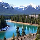 Canadian Rockies by the River by Robert Goulet