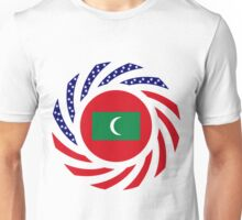 Maldivan American Multinational Patriot Flag Series Unisex T-Shirt