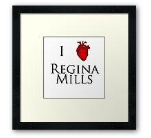 I Heart Regina Mills Framed Print