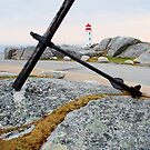 Peggy's Cove Light by Nancy Barrett