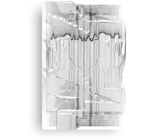 Refracture of the False Mend // Blackline Canvas Print