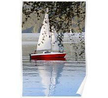 boy sailing Poster